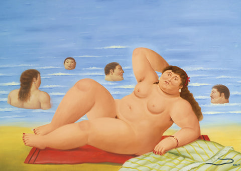 Fernando Botero - Nude on the Beach