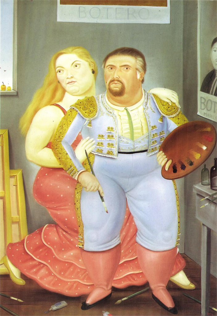Fernando Botero - Self-Portrait with Sofia