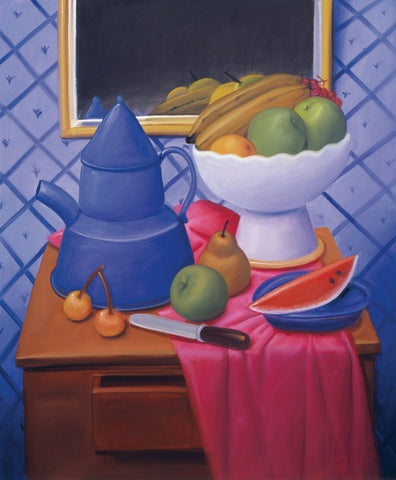 Fernando Botero - Still Life with Blue Coffee Pot