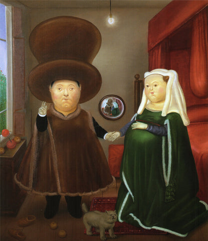 Fernando Botero - The Arnolfini After Van Eyck