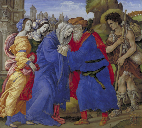 Filippino Lippi - The Meeting of Joachim and Anne outside the Golden Gate of Jerusalem