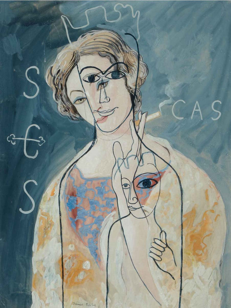 Francis Picabia - The Virgin of Montserrat, a Woman smoking
