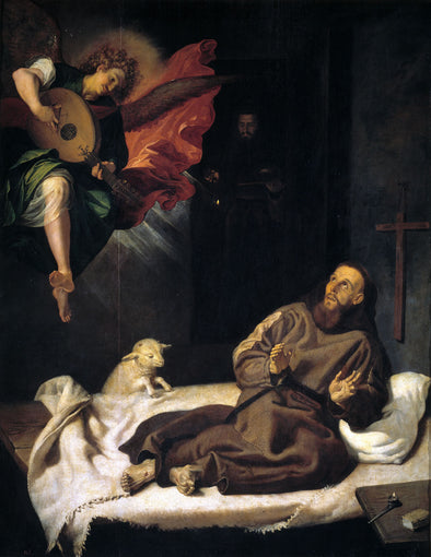Francisco Ribalta - San Francisco Comforted by an Angel Musician