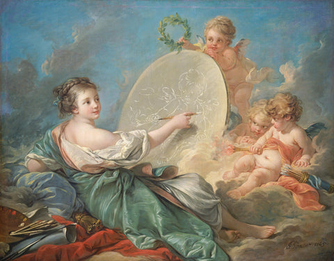 Francois Boucher - Allegory Of Painting