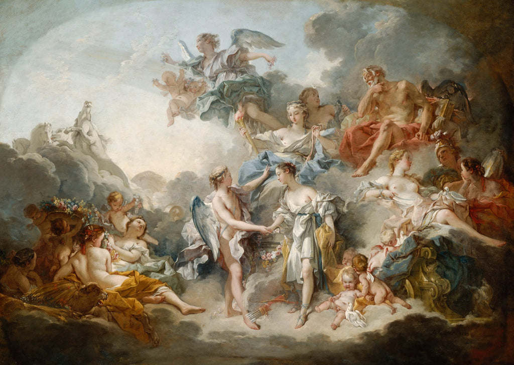 Francois Boucher - Marriage Of Cupid And Psyche