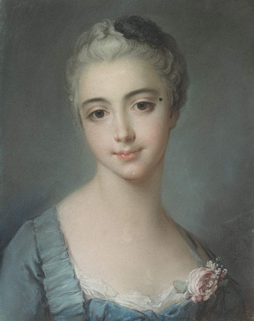 Francois Boucher - Portrait Of Ayoung Lady