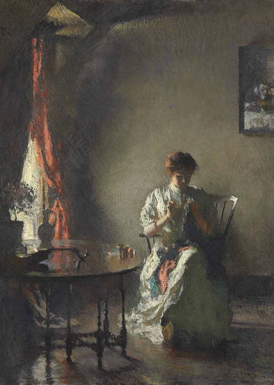 Frank Weston Benson - The Seamstress