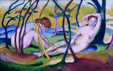 Franz Marc - Franz Marc Nudes under Trees