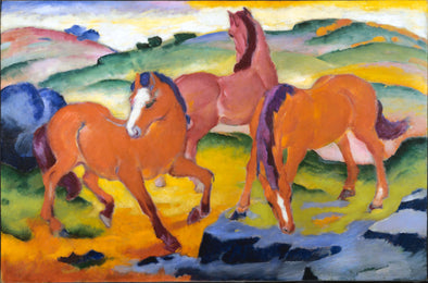 Franz Marc - Grazing Horses IV (The Red Horses)