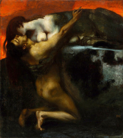 Franz Stuck - The Kiss of the Sphinx
