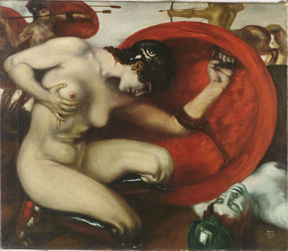 Franz Stuck - Wounded Amazon