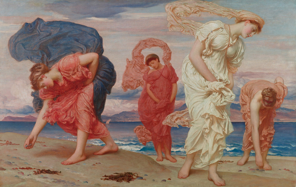 Frederic Lord Leighton - Greek Girls Picking up Pebbles by the Sea