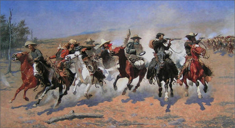 Frederic Remington - A Dash for the Timber