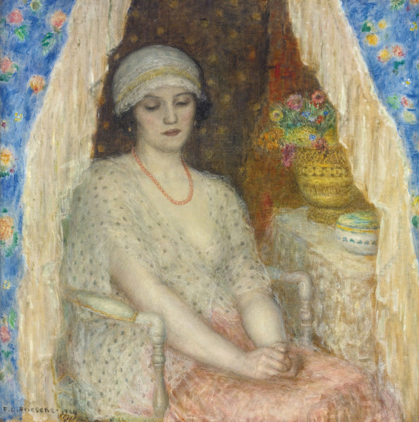Frederick Carl Frieseke - Blue Curtains
