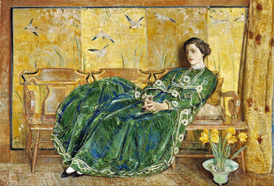 Frederick Childe Hassam - April - (The Green Gown)