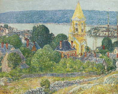 Frederick Childe Hassam - Shingling The First Baptist Church, Gloucester