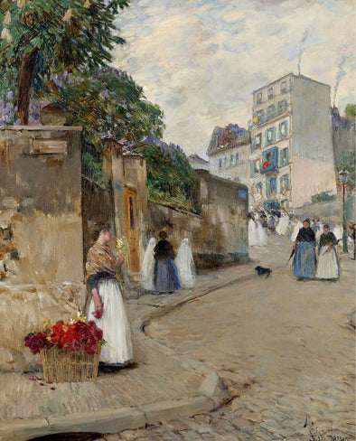 Frederick Childe Hassam - The Street of Montmartre