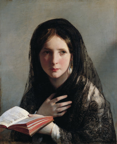 Friedrich von Amerling - Reading Girl