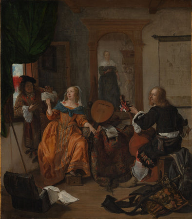 Gabriël Metsu - A Musical Party