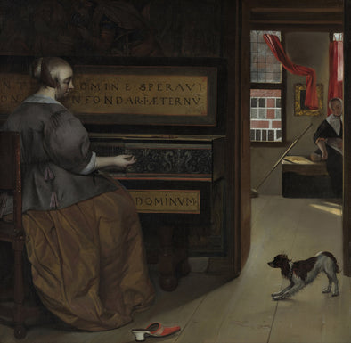 Gabriël Metsu - Lady at a Virginal