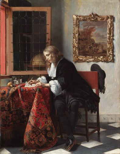 Gabriël Metsu - Man Writing a Letter