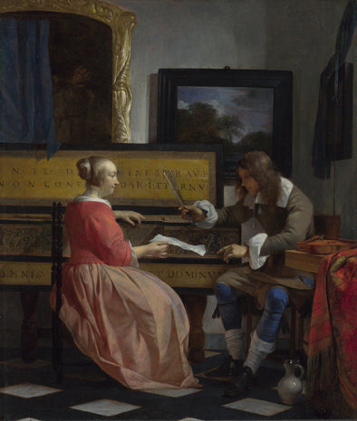Gabriël Metsu - Man and Woman Sitting at the Virginal