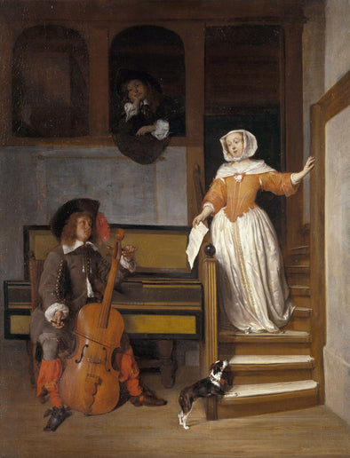 Gabriël Metsu - The Cello Player