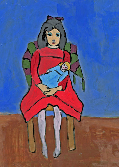 Gabriele Münter - Study of Girl with Doll