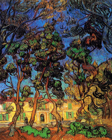 Vincent van Gogh - Trees in the Garden of Saint Paul Hospital