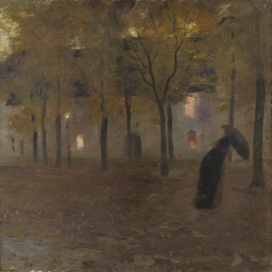 Gaston La Touche - The Mall or Sous la pluie (In the Rain)