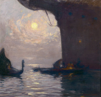 Gaston La Touche - Venice In The Moonlight
