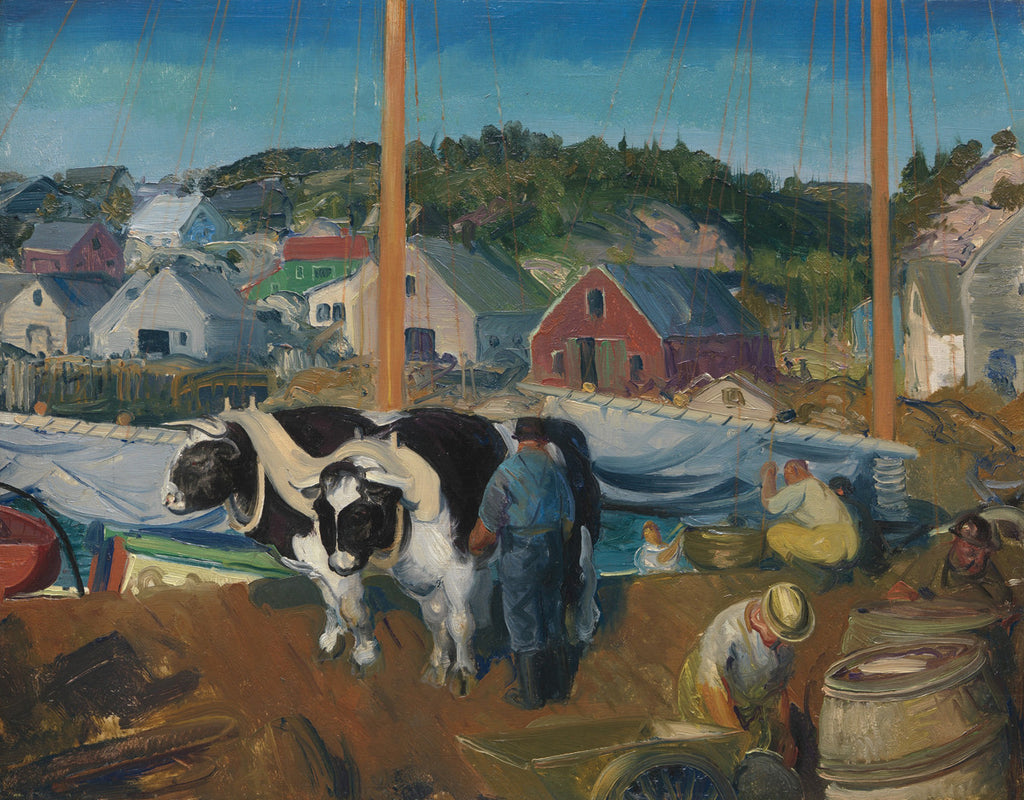 George Bellows - Ox Team, Wharf at Matinicus