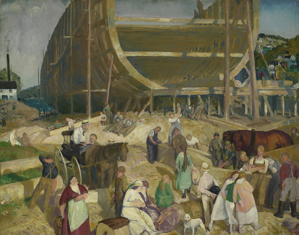 George Bellows - Shipyard Society