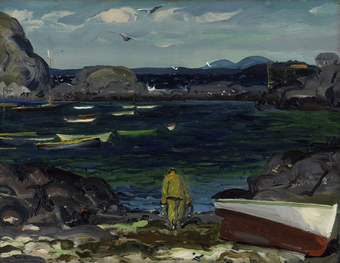 George Bellows - The Harbor, Monhegan Coast, Maine