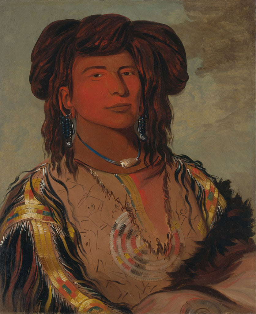 George Catlin - Ha wón je tah, One Horn, Head Chief of the Miniconjou Tribe