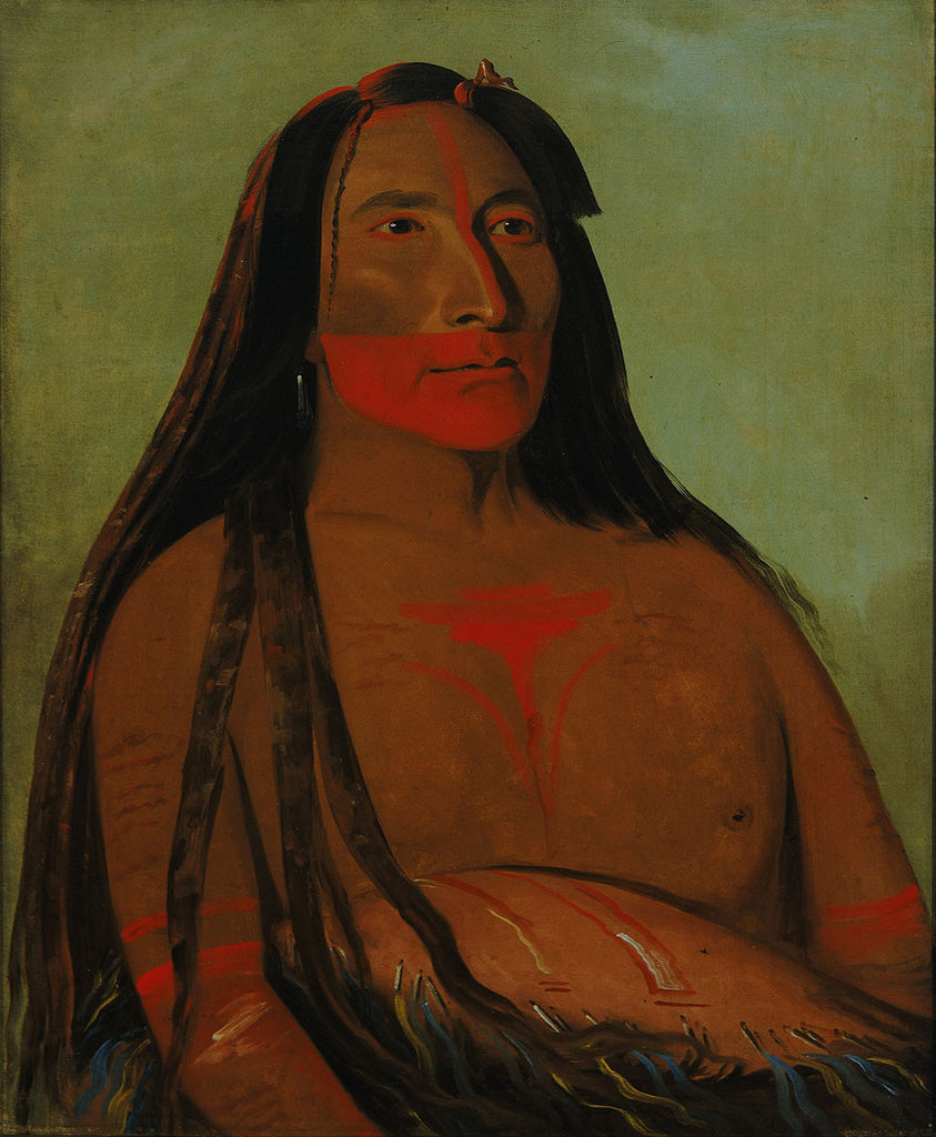 George Catlin - Máh to tóh pa, Four Bears, Second Chief in Mourning