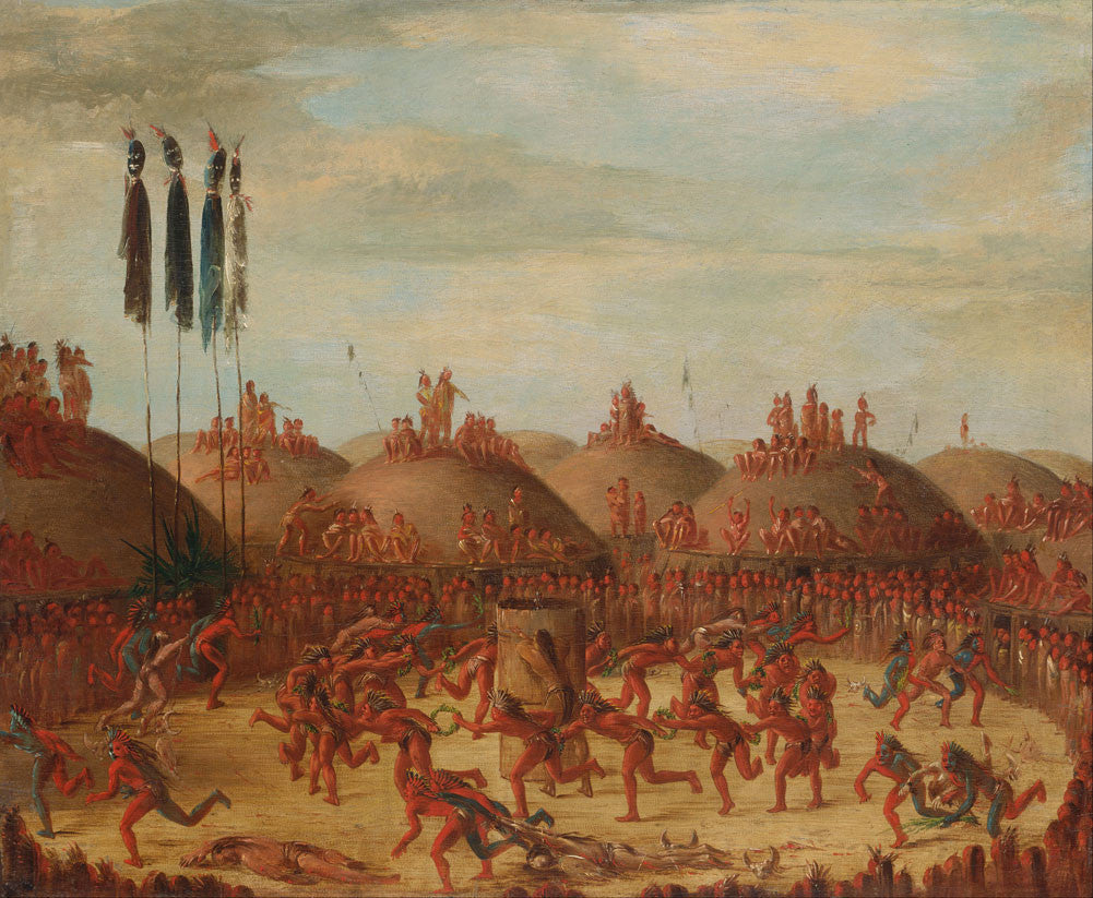 George Catlin - The Last Race, Mandan O kee pa Ceremony