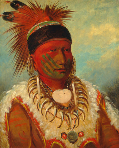 George Catlin - The White Cloud, Head Chief of the Iowas