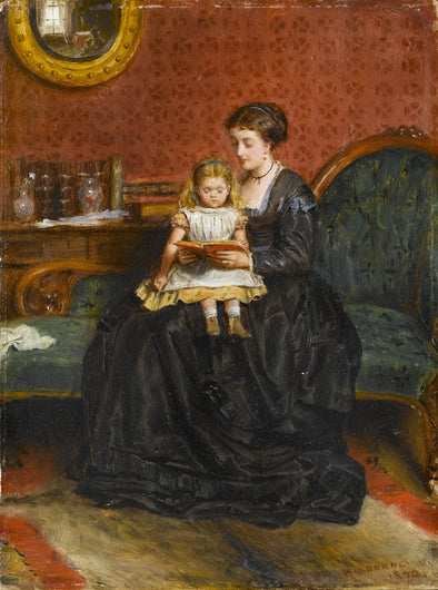 George Goodwin Kilburne - Mother and Child in an Interior