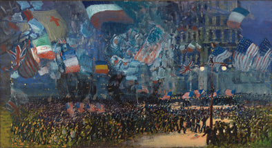 George Luks - Armistice Night