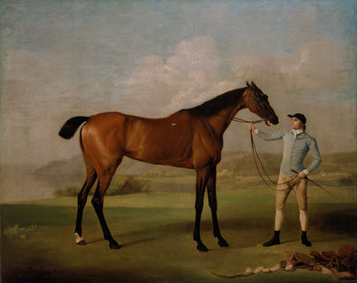 George Stubbs - Molly Long Legs with her Jockey