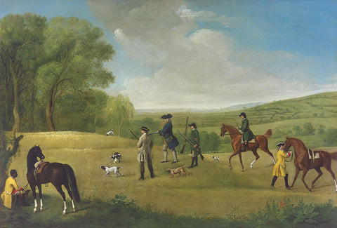 George Stubbs - Shooting at Goodwood