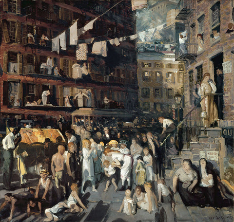 George Wesley Bellows - Cliff Dwellers