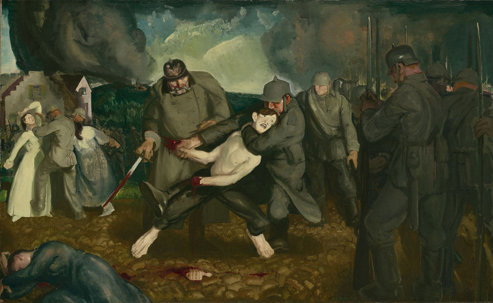 George Wesley Bellows - The Germans Arrive