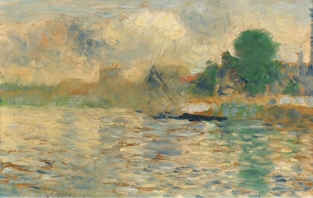 Georges Seurat - Barge on the Seine