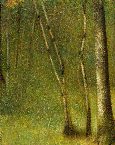 Georges Seurat - The Forest at Pontaubert