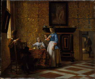 Gerard ter Borch - Leisure Time in an Elegant Setting
