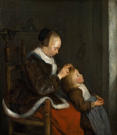 Gerard ter Borch - Mother Combing Her Child's Hair