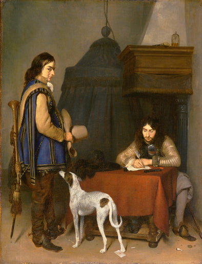 Gerard ter Borch - Officer Writing a Letter