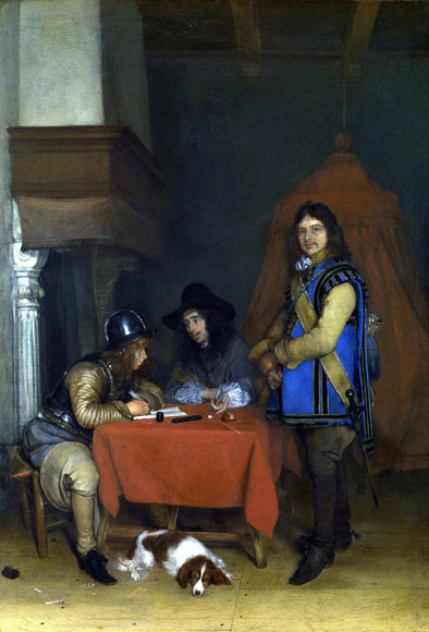 Gerard ter Borch - Officer dictating a Letter